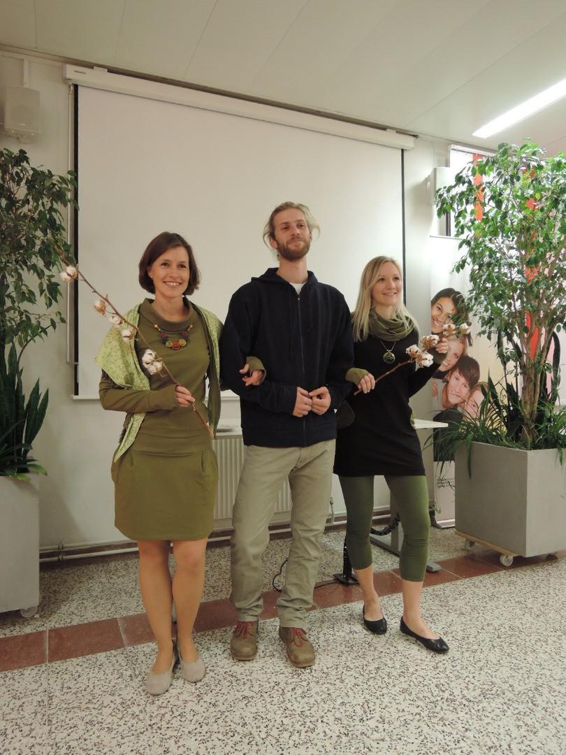 Beim Abend über biofaire Baumwolle durfte auch eine feine Modenschau nicht fehlen!.JPG